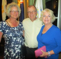 Therese & Martin Fothergill, Judy Hall.9.5.13